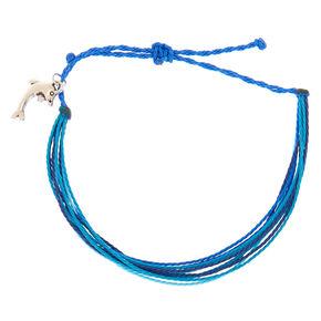 Dolphin Thread Adjustable Bracelet - Blue,
