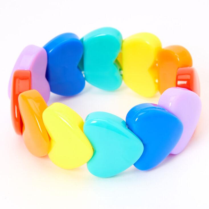 Claire's Club Rainbow Heart Bracelet,
