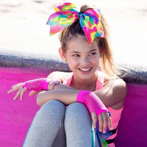 Flash Fishnet Gloves - Pink,