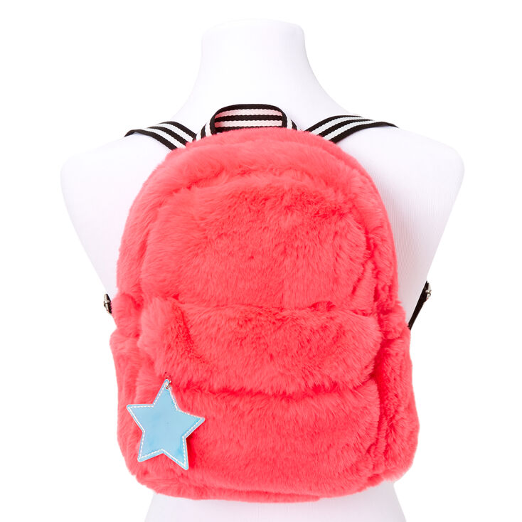 Neon Furry Medium Backpack - Pink,
