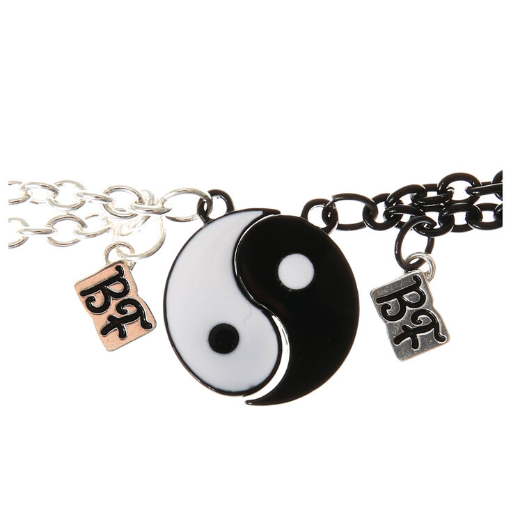 Yin & Yang Chain Friendship Bracelets,