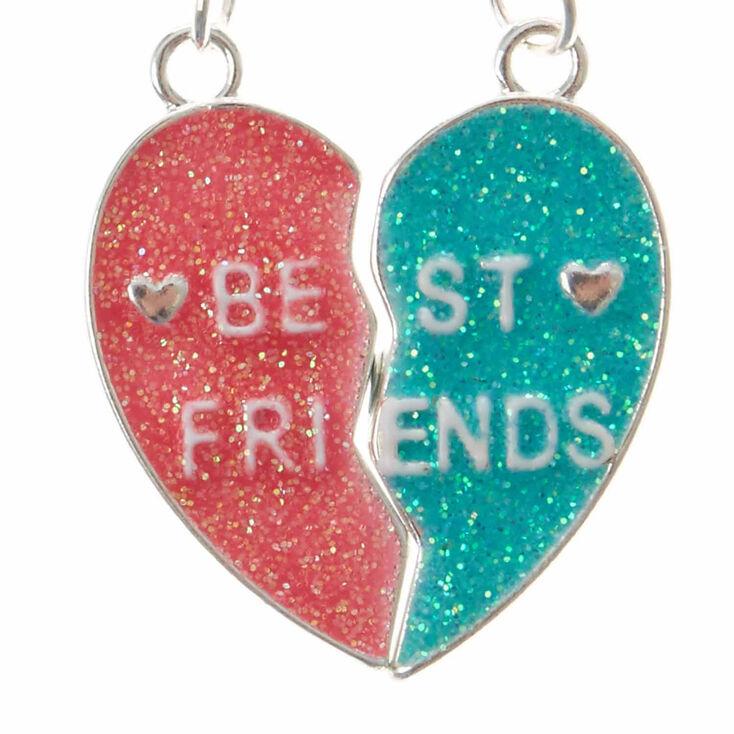 Lot de colliers d'amitié à pendentif cœur,