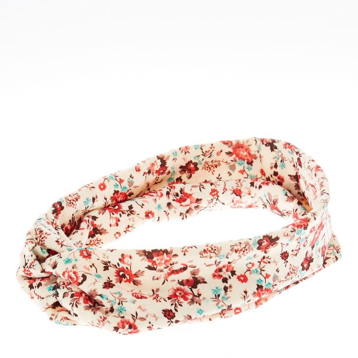 Ditsy Floral Elasticated Twist Headwrap,