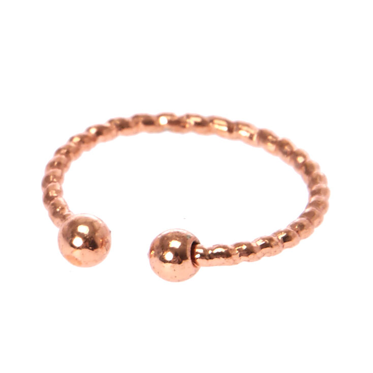 Rose Gold Laser Cut Faux Lip Ring,