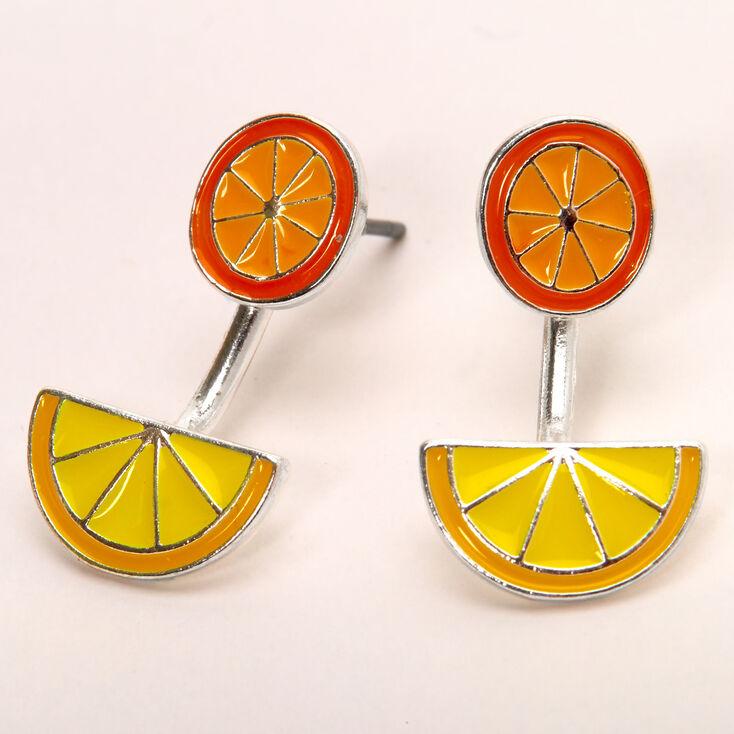 Lemon Orange Ear Jacket Earrings,