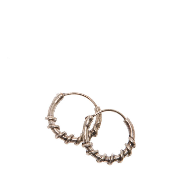 Claire's - 10mm wire wrapped hoop earrings - 1