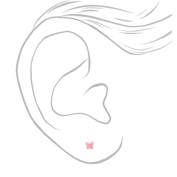 Claire's - sterling swarovski crystal butterfly stud earrings - 2