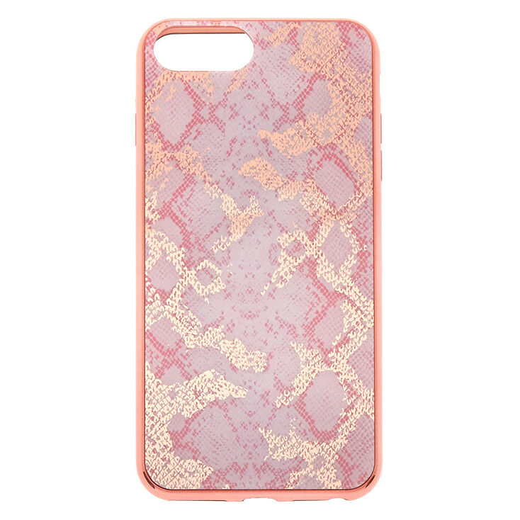 Pink Snakeskin Phone Case - Fits iPhone 6/7/8 Plus,