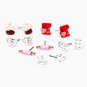 Baking Stud Earrings - 6 Pack,