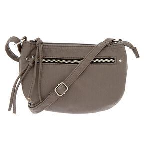 f3560e7b11 Faux Leather Satchel Crossbody Bag - Gray