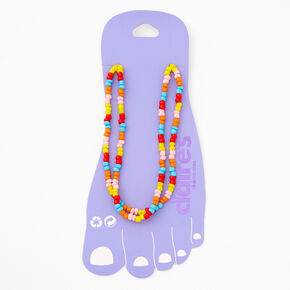 Double Rainbow Beaded Anklet,