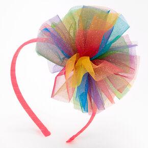 Rainbow Tulle Cluster Headband,