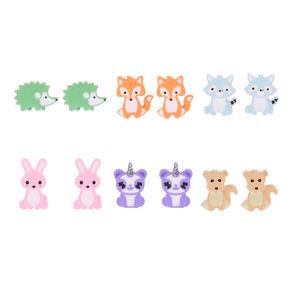 Pastel Animal Stud Earrings - 6 Pack,