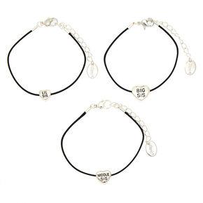 Best Friends Sister Statement Bracelets 3 Pack