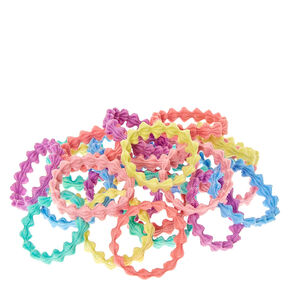Claire's Club Pastel Wave Hair Ties - 24 Pack,