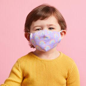 Cotton Purple Rainbow Face Mask - Child Small,