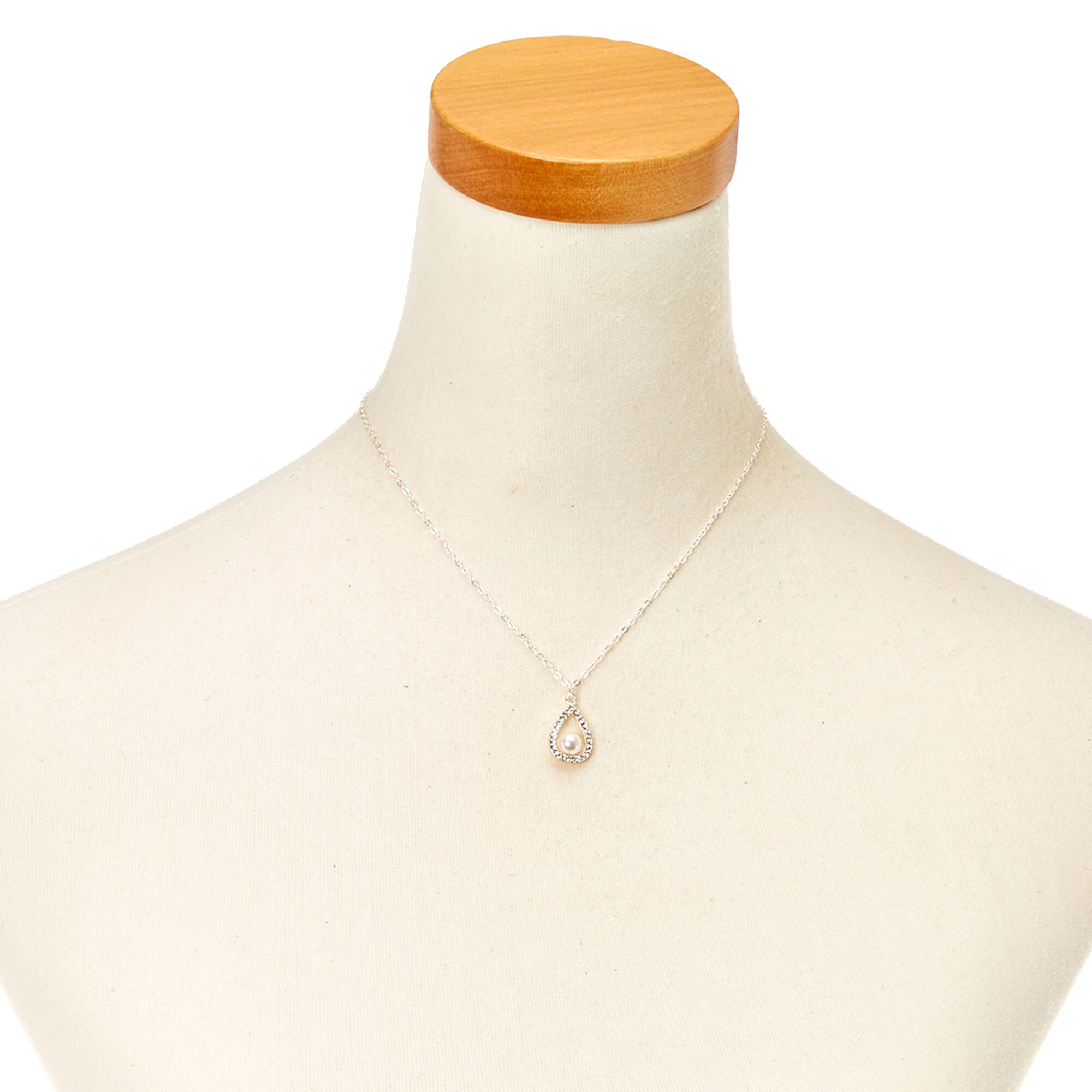 full set teardrop pendant. Earring Set, · Silver-tone White Faux Pearl Teardrop Pendant Necklace \u0026amp; Full Set