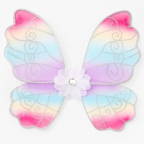 Claire's Club Pastel Rainbow Butterfly Wings,