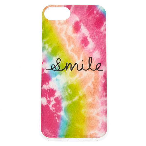 Claire's - smile tie-dye phone case - 1