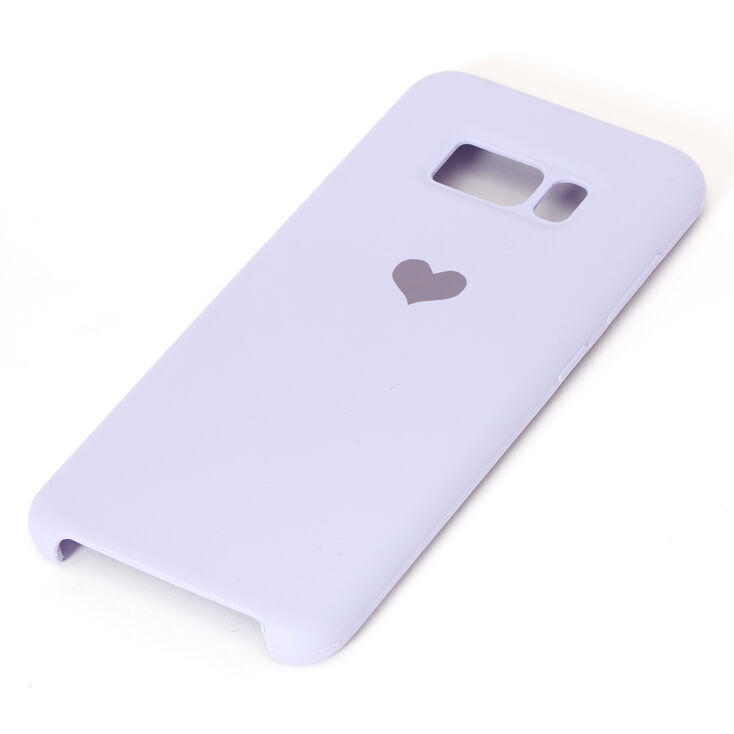 Lavender Heart Phone Case - Fits Samsung Galaxy S8,