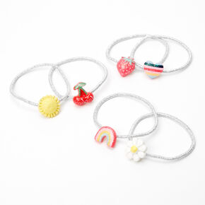 Claire's Club Sweet Summer Hair Ties - 6 Pack,
