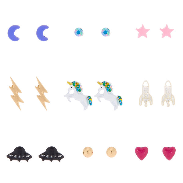 Claire's - space unicorn stud earrings - 1