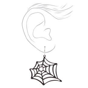 Grandes pendantes toile d'araignée 5cm noires,