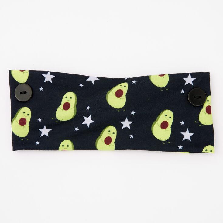 Avocado Print Button Headwrap,