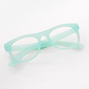 Claire's Club Frosted Clear Lens Frames - Mint,