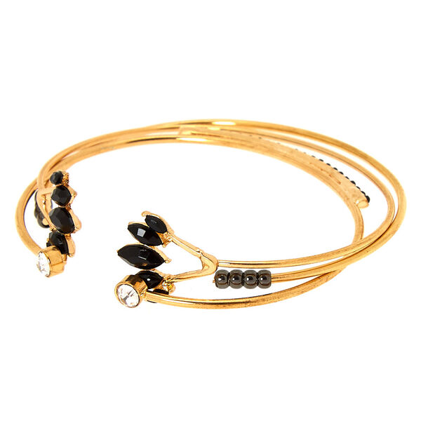 Claire's - gold embellished cuff bracelets - 1