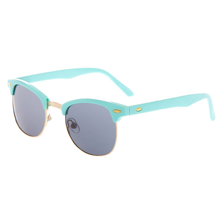 Retro Browline Sunglasses - Mint,