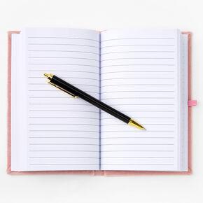 Focus On The Good Stuff Velvet Journal - Pink,