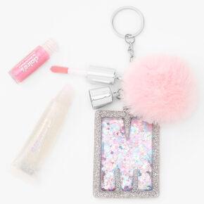 Porte-clés gloss à initiale - Rose, M,