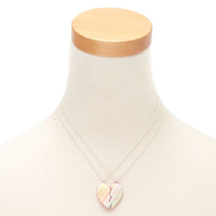 Best Friends Pastel Stripe Pendant Necklaces - 2 Pack,