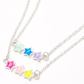 Best Friends Triple Star Pendant Necklaces - 2 Pack,