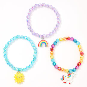 Claire's Club Magical Sunshine Beaded Stretch Bracelets - 3 Pack,