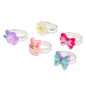 Claire's Club Spring Rings - 5 Pack,