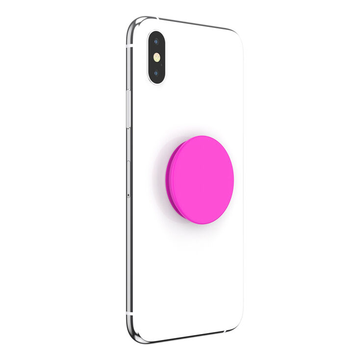 PopSockets Swappable PopGrip - Neon Day Glo Pink,