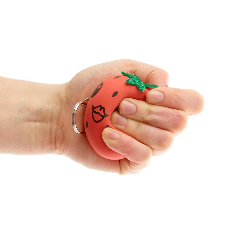 Dottie the Strawberry Squishy Ball Keychain,