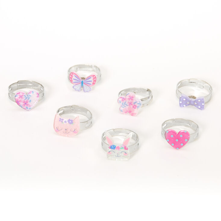 Claire's Club Spring Critters Rings - 7 Pack,