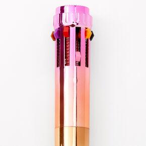 Rainbow Ombre Multicolored Pen,