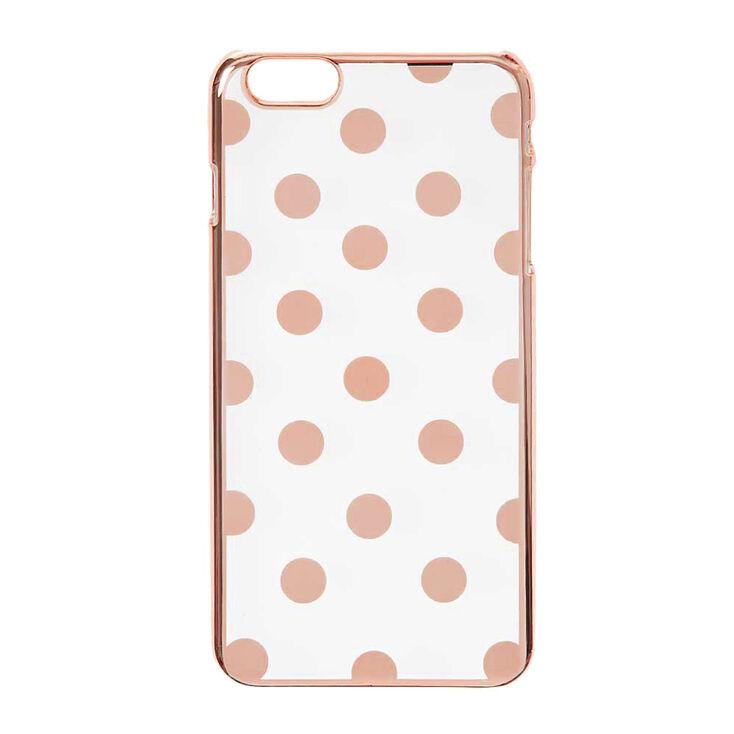 rose gold polka dots phone case claire 39 s us. Black Bedroom Furniture Sets. Home Design Ideas