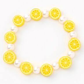 Lemon Slices Beaded Stretch Bracelet,