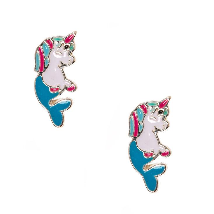 Unicorn Mermaid Stud Earrings Claire S Us