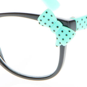 5d3d9079d7 Claire s Club Polka Dot Bow Frames - Mint