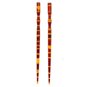 Tortoiseshell Hair Sticks - 2 Pack,
