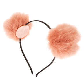 Pom Pom Ears Headband - Blush,