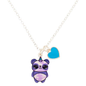 Charlie the Panda Pendant Necklace - Purple,