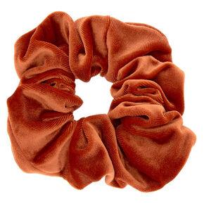 Medium Velvet Hair Scrunchie - Copper Orange,