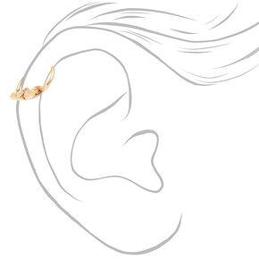 Boucles d'oreilles pour piercing de cartilage serpents variés 1,2mm couleur dorée - Lot de 3,